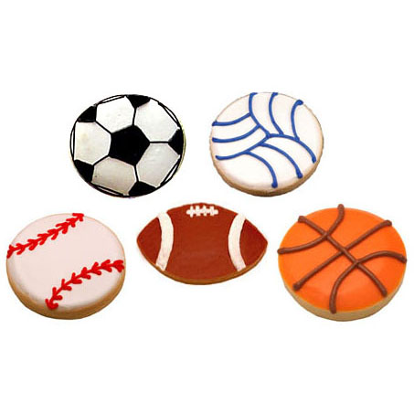 Sports Assortment Cookie Favors