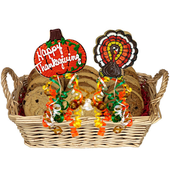 Happy Thanksgiving Gourmet Cookie Basket